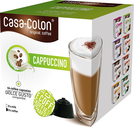 CASA COLON KAFFEEKAPSELN CAPPUCCINO DOLCE GUSTO®*