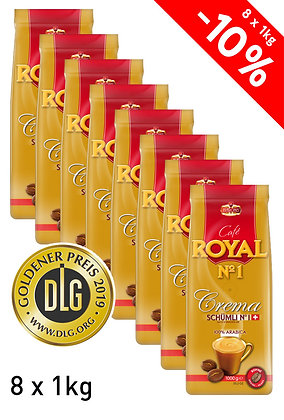 ROYAL N1 CREMA SCHÜMLI 8 x 1 Kg BEANS - DLG GOLD MEDAL