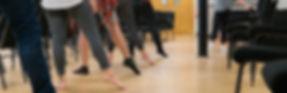Feet dancing ballet