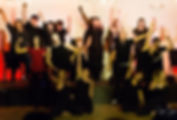 Singers posing after La Vie Boheme