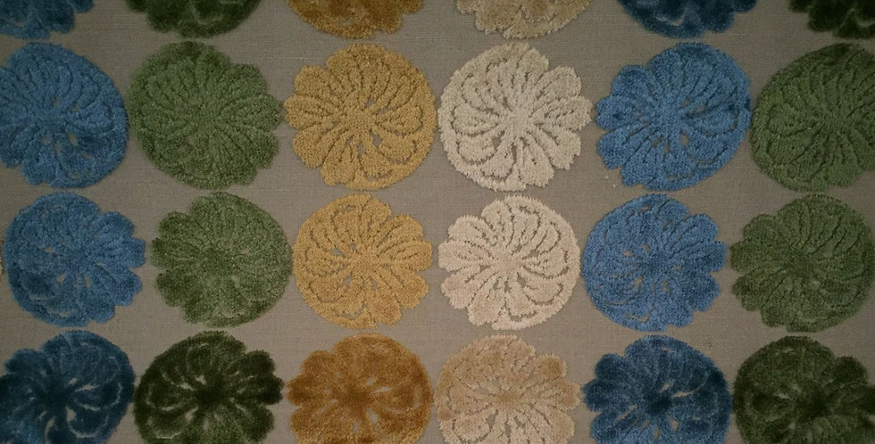 Chenille Medallions - Green, Blue, Yellow - circles