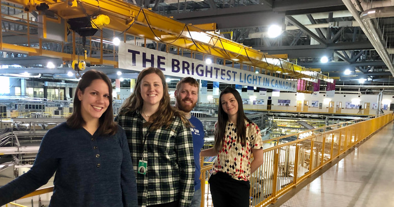 Andronowski Lab at the Canadian Light Source. December 2019.