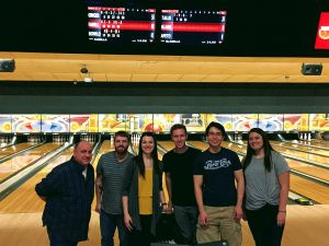 Andronowski Lab Group Bowling Outing.