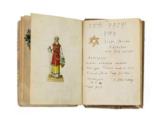 Book of well wishes belonging to Betty Gerard