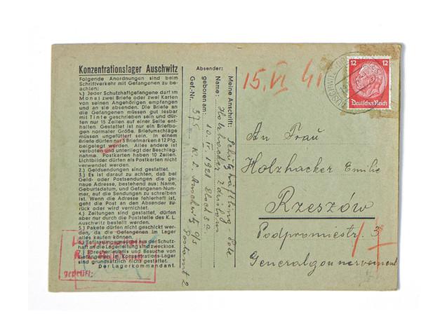 Auschwitz Letter