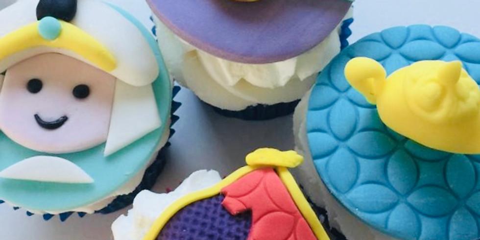Aladdin cupcake decorating class - October break
