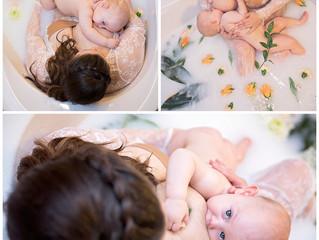 Celebrating 1 year of breastfeeding! Milk Bath Photos | Bowling Green, Glasgow, KY Maternity and Bir