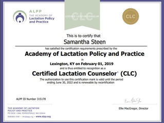 I'm A CLC!!! Certified Lactation Counselor!!!