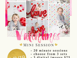 Valentine's Mini Sessions Now Booking!