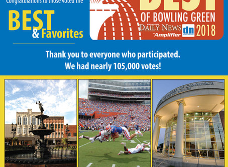 Morris is voted BEST JEWELER, in Best of Bowling Green, for the 10th consecutive year!!