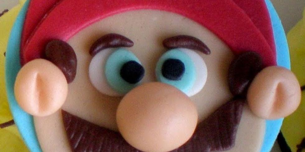 Summer cupcake decorating class - Super Mario + Pokemon theme