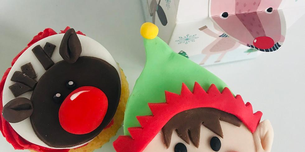 Christmas cupcake decorating class -  1 hour class  1 SPACE LEFT