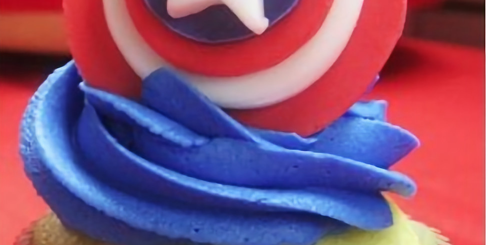 Summer cupcake decorating class - Superheroes theme