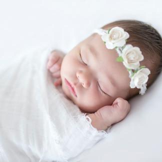 Baby on white