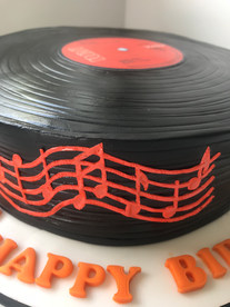 stack of discs cake