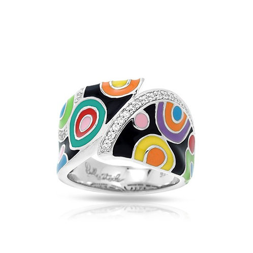 Belle Etoile Groovy Multi Color Ring Size 7
