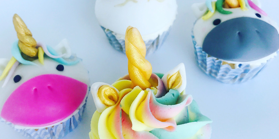 Summer cupcake decorating class - Unicorn and mermaid theme     FULLY BOOKED