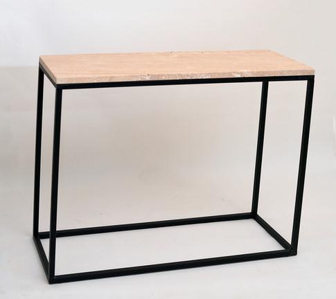 Travertine Console Table
