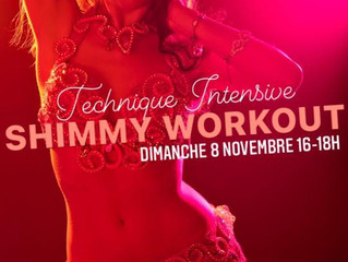 STAGE TREMBLEMENTS SHIMMY WORKOUT dim 8 novembre 16h
