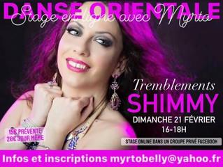 Stage TREMBLEMENTS/SHIMMY dimanche 21 février 16h