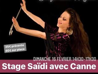 Stage Saïdi avec canne 16 février