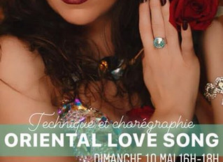 STAGE online ORIENTAL LOVE SONG Dimanche 10 mai 2020 16h-18h