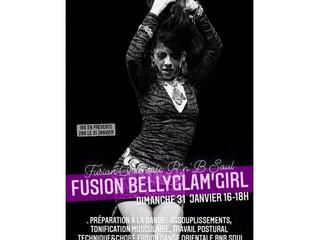 Stage online FUSION BELLYGLAM'GIRL dimanche 31 janvier 16-18h