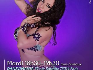 RENTREE des cours de danse orientale dès le 5 septembre à Dansomania et Espace Villa d'Orléans