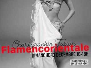 Stage Fusion FLAMENCORIENTALE dimanche 13 décembre 16-18h