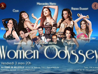 Show Women Odyssey 3 mars avec Mercedes Nieto, Rajaa, Ciya, Myrto, Melinda Gillet, Jessika Cruz, Kas