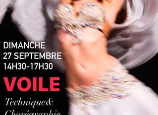 Stage Thème VOILE avec Myrto Dimanche 27 septembre
