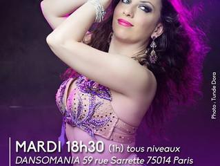PROMO cours danse orientale hebdos 1h