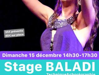 Stage BALADI 15 décembre