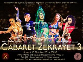 "Show ""CABARET ZEKRAYET 3"" 10 Octobre"