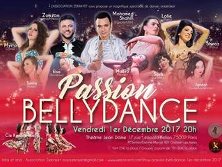Show PASSION BELLYDANCE Vendredi 1er décembre 2017 avec Mohamed Shahin