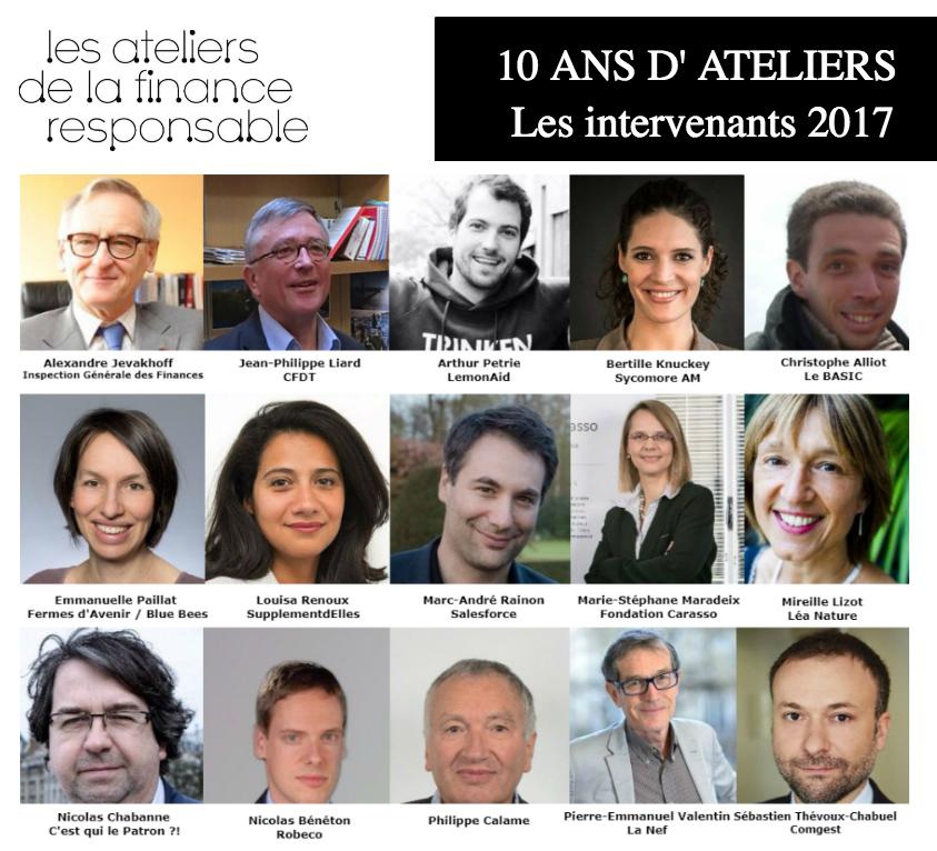 LES INTERVENANTS ATELIERS 2