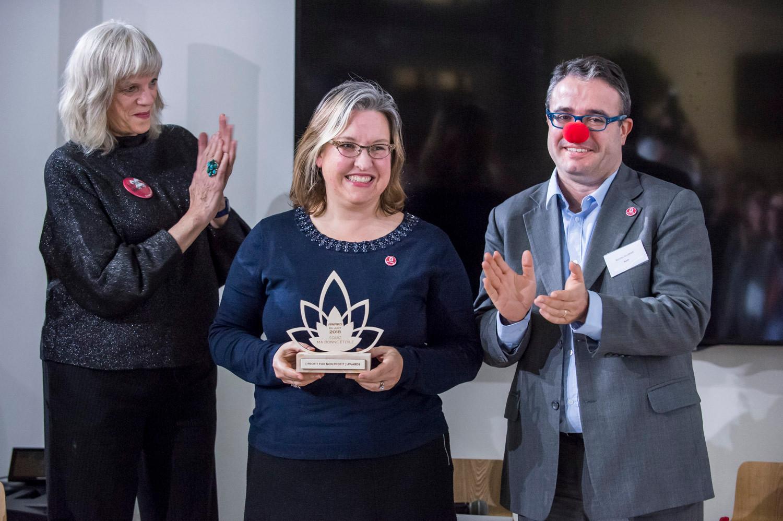 """Award du Jury 2018 remis à l'entreprise """"Squiz"""" et son association bénéficiaire """"Le Rire Médecin""""  photo: Corinne Simon"""
