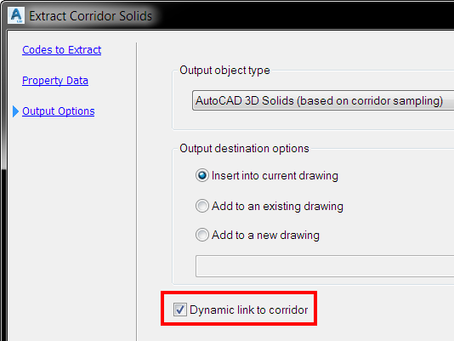 Remove dynamic link for corridor solids