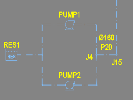 Run water network analysis with parallel pumps