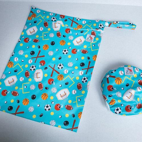Sports Reusable Swim Diaper and Wet Bag Bundle