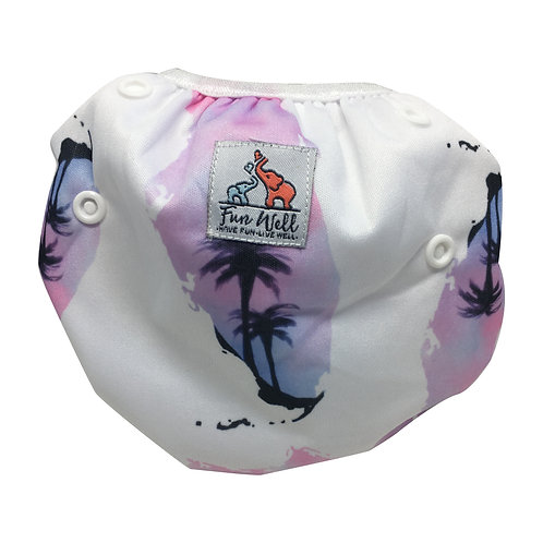 One Size Fits Most Reusable Swim Diaper PURPLE FLORIDA