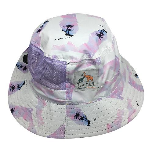 UPF/SPF 50 Sun Hat PURPLE FLORIDA