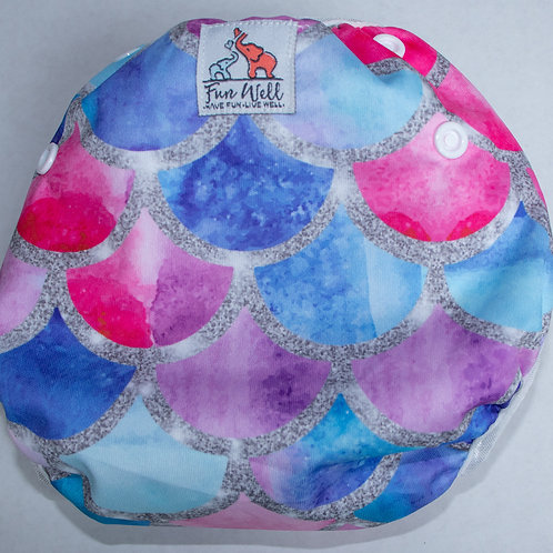 One Size Fits Most Reusable Swim Diaper MERMAID SCALES