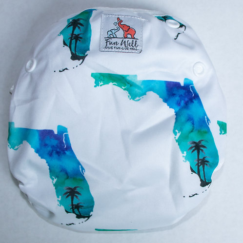 One Size Fits Most Reusable Swim Diaper FLORIDA