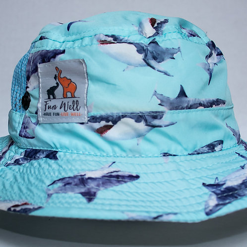 UPF/SPF 50 Sun Hat WATERCOLOR SHARK