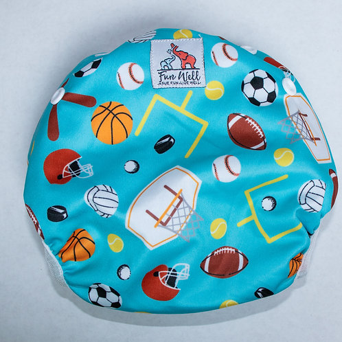 One Size Fits Most Reusable Swim Diaper SPORTS