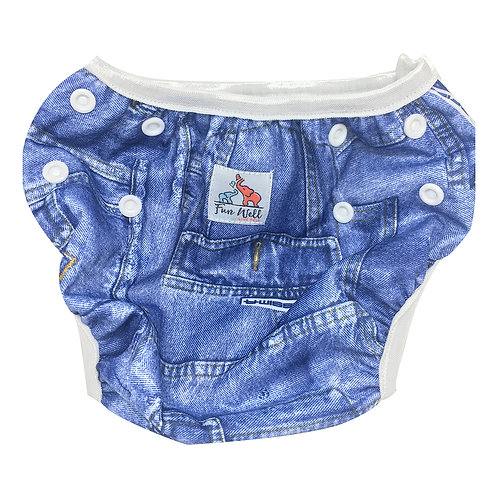 One Size Fits Most Reusable Swim Diaper JEAN