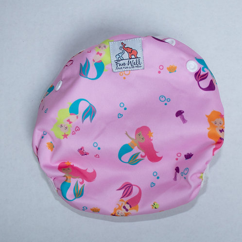 One Size Fits Most Reusable Swim Diaper PINK MERMAID