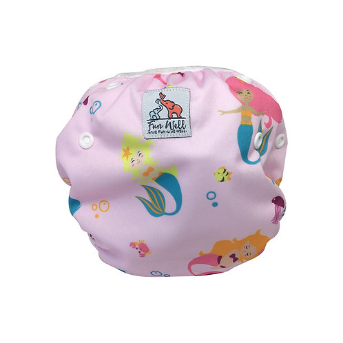 One Size Fits Most Reusable Swim Diaper MERMAID