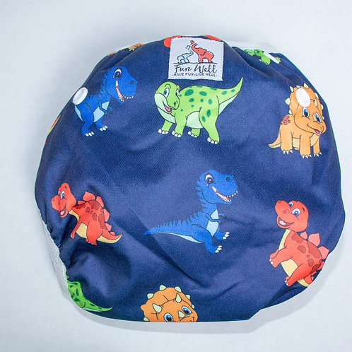 One Size Fits Most Reusable Swim Diaper DINO
